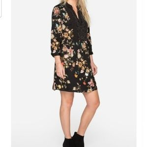 EXOTIC GARDEN BOHO HENLEY DRESS